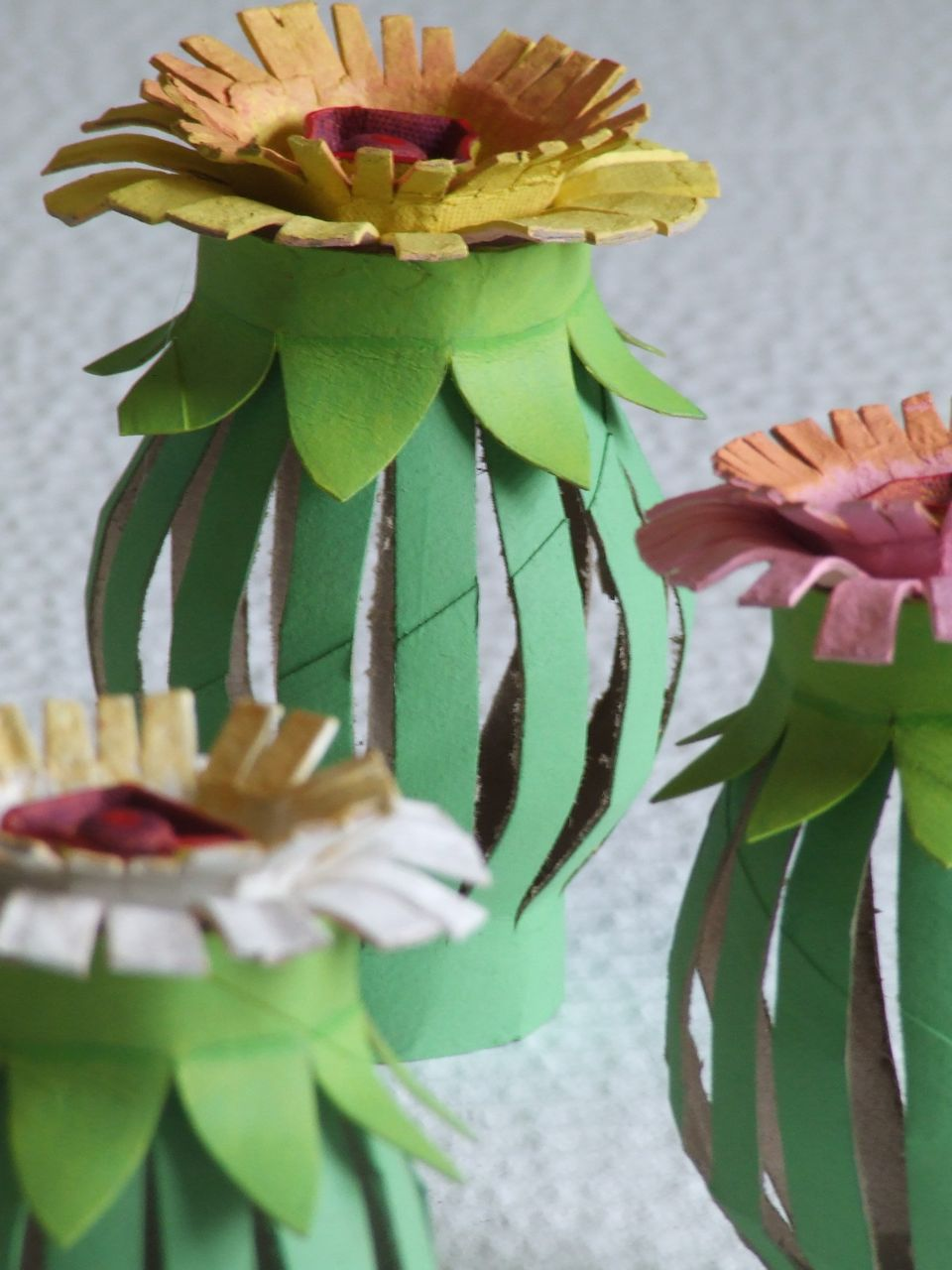 Tutorial Toilet Paper Roll Egg Carton Flowers Michele