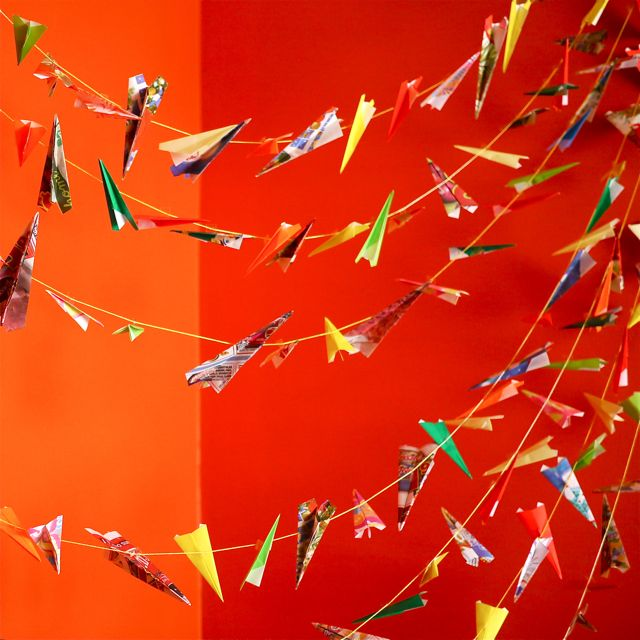 Airplane Birthday Party Get Ready For Takeoff: Paper Airplane Garland