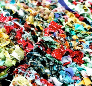 Fabric Scrap Yarn Possibility #1