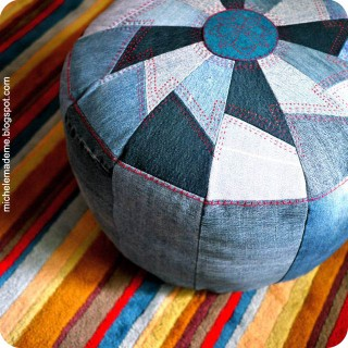 Drop-Dead Denim: One Tough Pouf