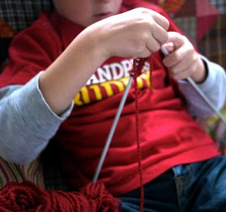 The Boy Learns to Knit