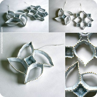 Series 7 – Ornament-ED: Egg Carton Snowflakes