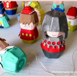 A Dozen Egg Carton Folk Ornaments Tutorial in the Shop!