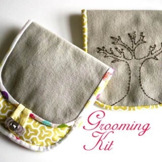 Handmade Gift – Embroidered Grooming Kit