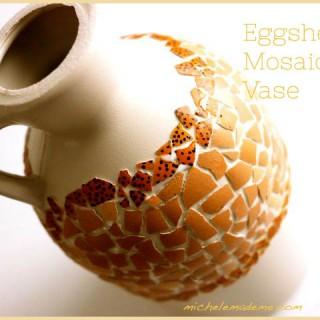 Plastic Jug to Eggshell Mosaic Vase