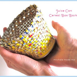 Juice Can Cereal Box Basket Tutorial in The Shop!