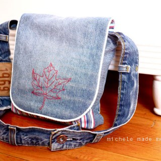 Maple Leaf Messenger Bag for The Boy