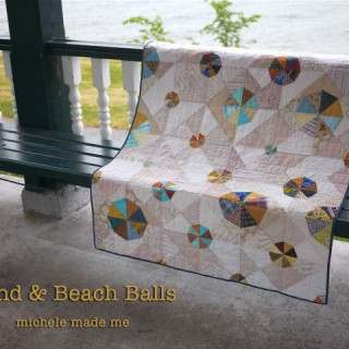 Sand and Beach Balls: A Baby Quilt