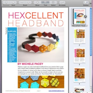Hexcellent Headband PDF Tutorial in The Shop!