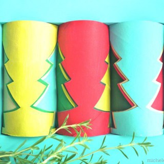 Tutorial: Toilet Paper Roll Christmas Trees in July