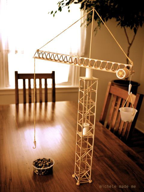 Tower crane building with the boy michele made me for Make a crane