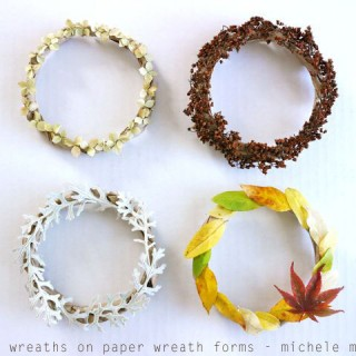 Little Paper Wreaths Au Natural