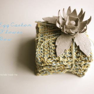 Egg Carton Flower Gift Bow
