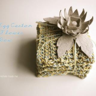 Egg Carton Flower Gift Bow