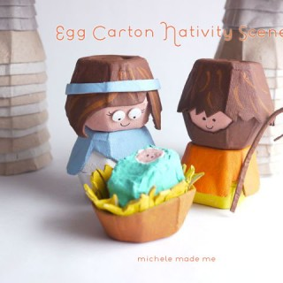 Egg Carton Nativity Scene PDF Tutorial in The Shop!