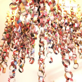 Junkmail Paper Chain Party Chandelier