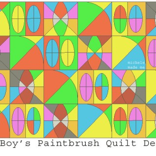 Paintbrush Quilt Design with The Boy
