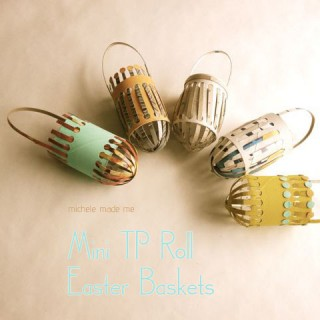 Tutorial:  Mini TP Roll Easter Baskets