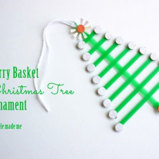 Tutorial: Berry Basket Christmas-in-July Tree Ornament