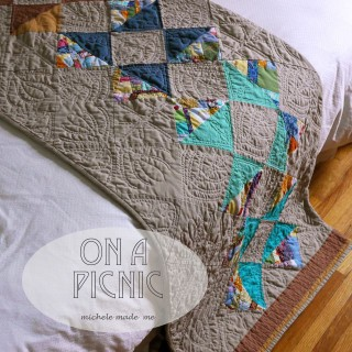 Quilt Finish: On A Picnic