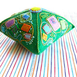 Pyramidal Pincushion PDF Tutorial in The Shop!