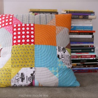 Colourful Quilted Cushion. Check!