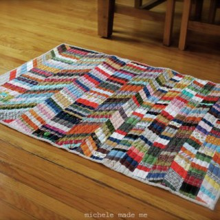 Reversible Scrappy String Rug