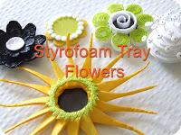 Цветы из поролона фото