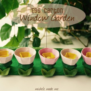 Kid Craft: Egg Carton Window Garden Tutorial