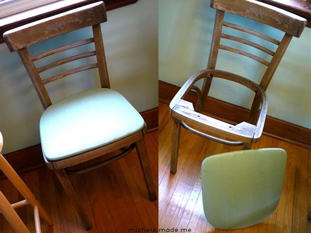 Before Denim Chair Michele Made Me
