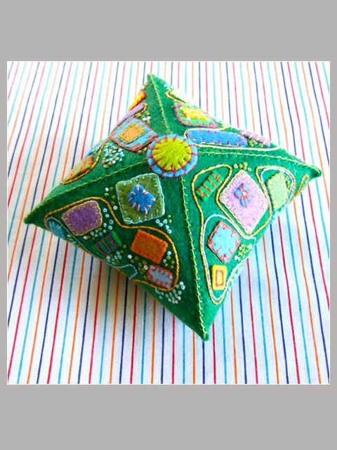 Button Pyramidal Pincushion Michele Made Me