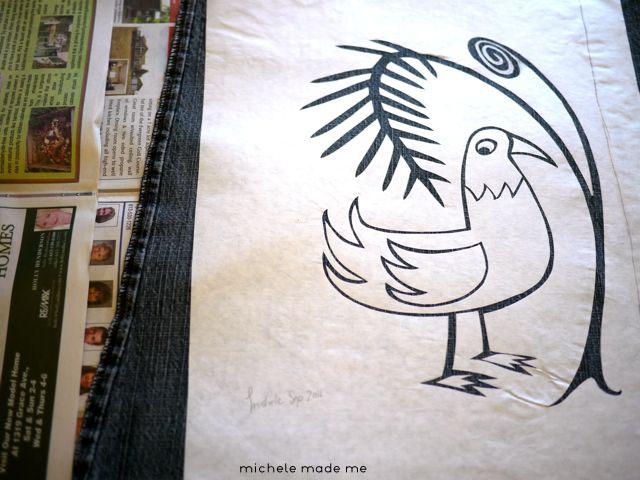 Fern 'n Bird Stencil Michele Made Me