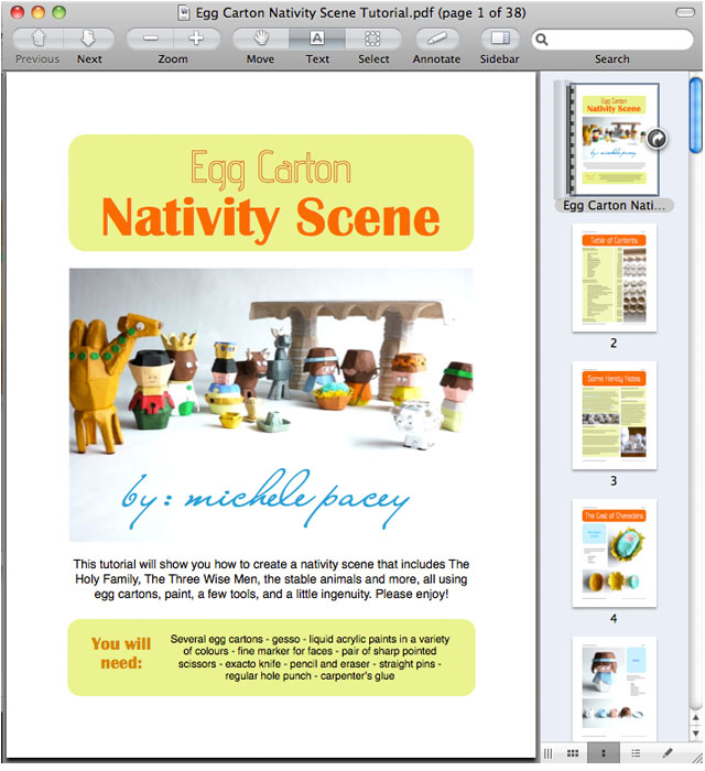 Screen Shot of Egg Carton Nativity Scene Tutorial