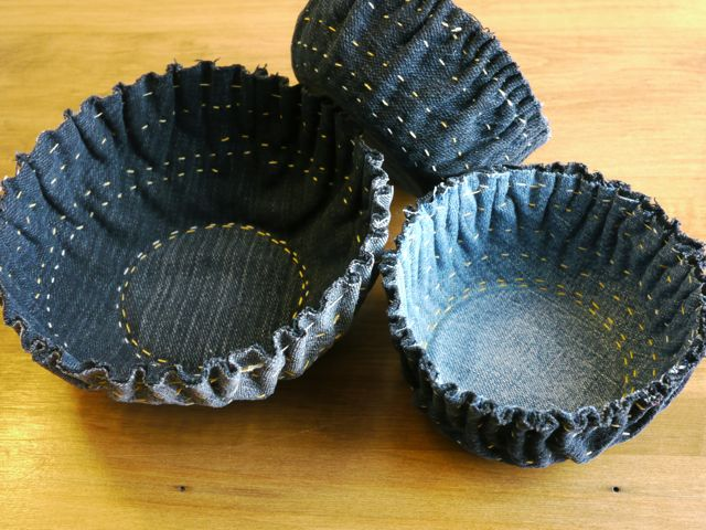 Three denim bowls Michele Made Me