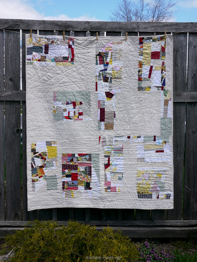 Drop Me Off Right Here Improv QAYG Quilt Michele Made Me