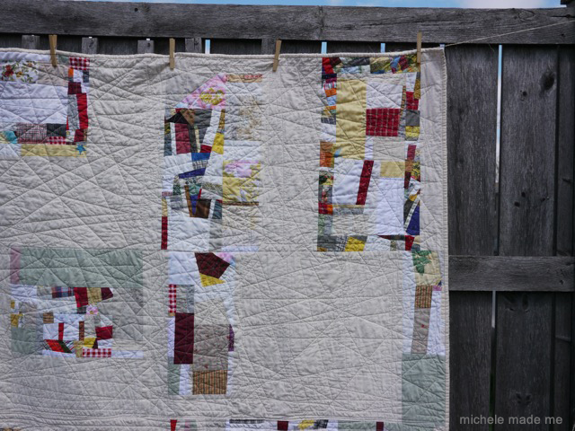 Drop Me Off Right Here Improv QAYG1 Quilt Michele Made Me